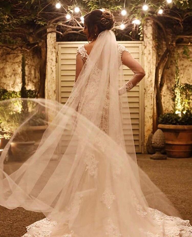 17 - Véu de noiva de tule francês