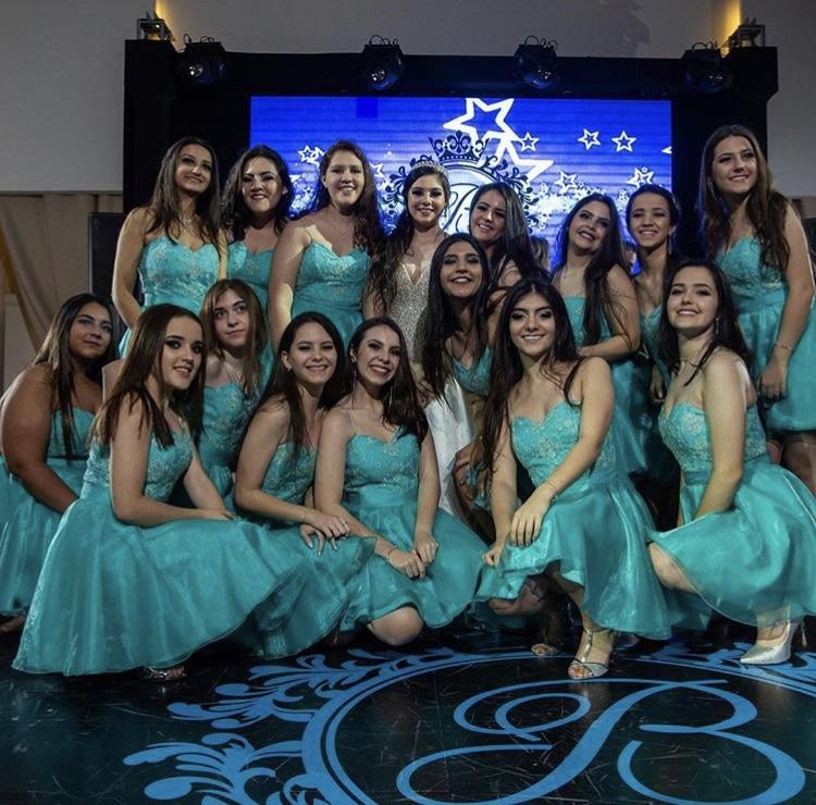 101 - Vestido 15 damas azul tiffany
