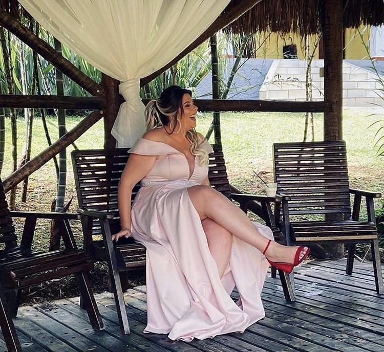 19 - Vestido rosê com fenda