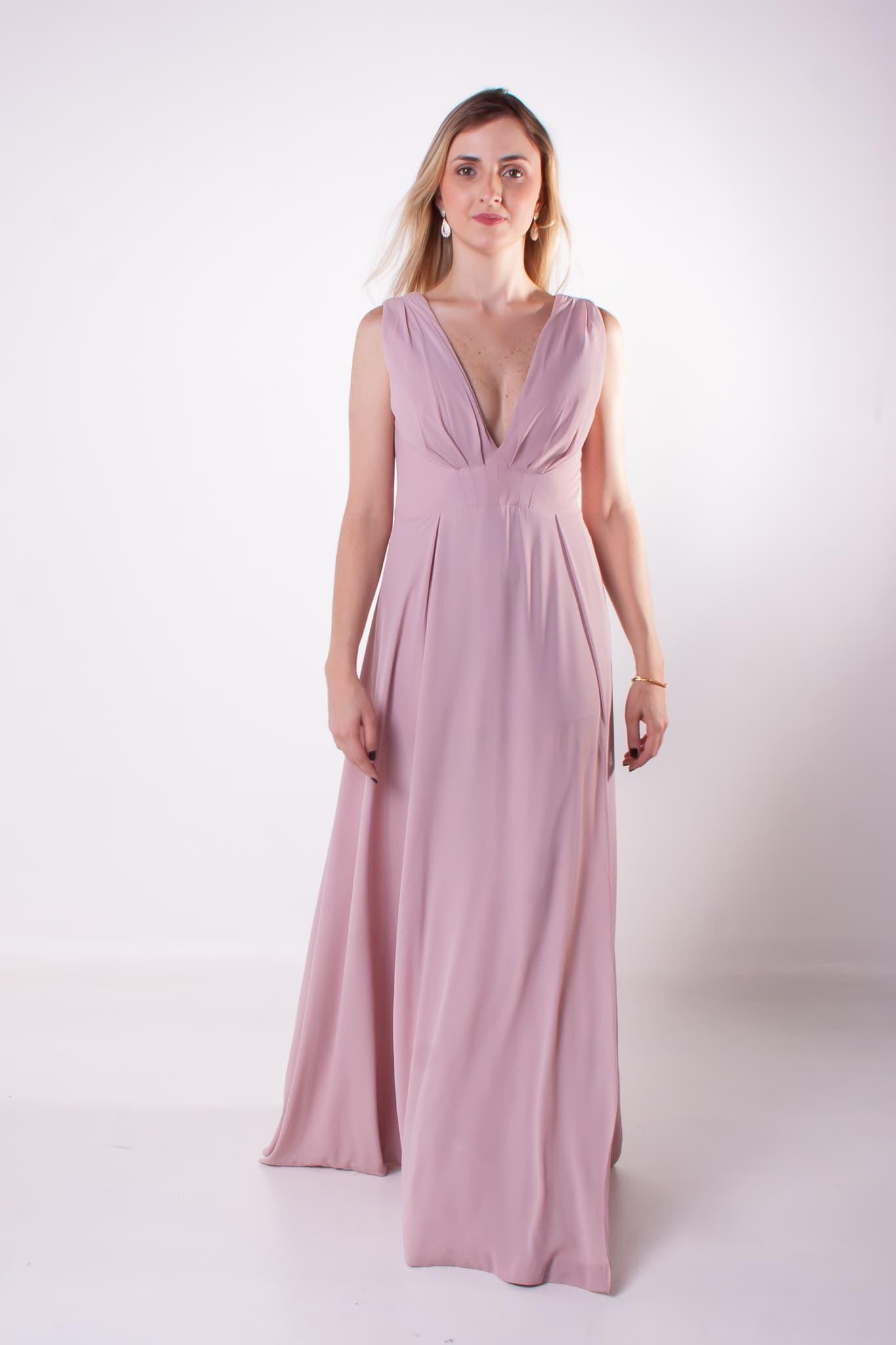 7 - vestido nude fluido