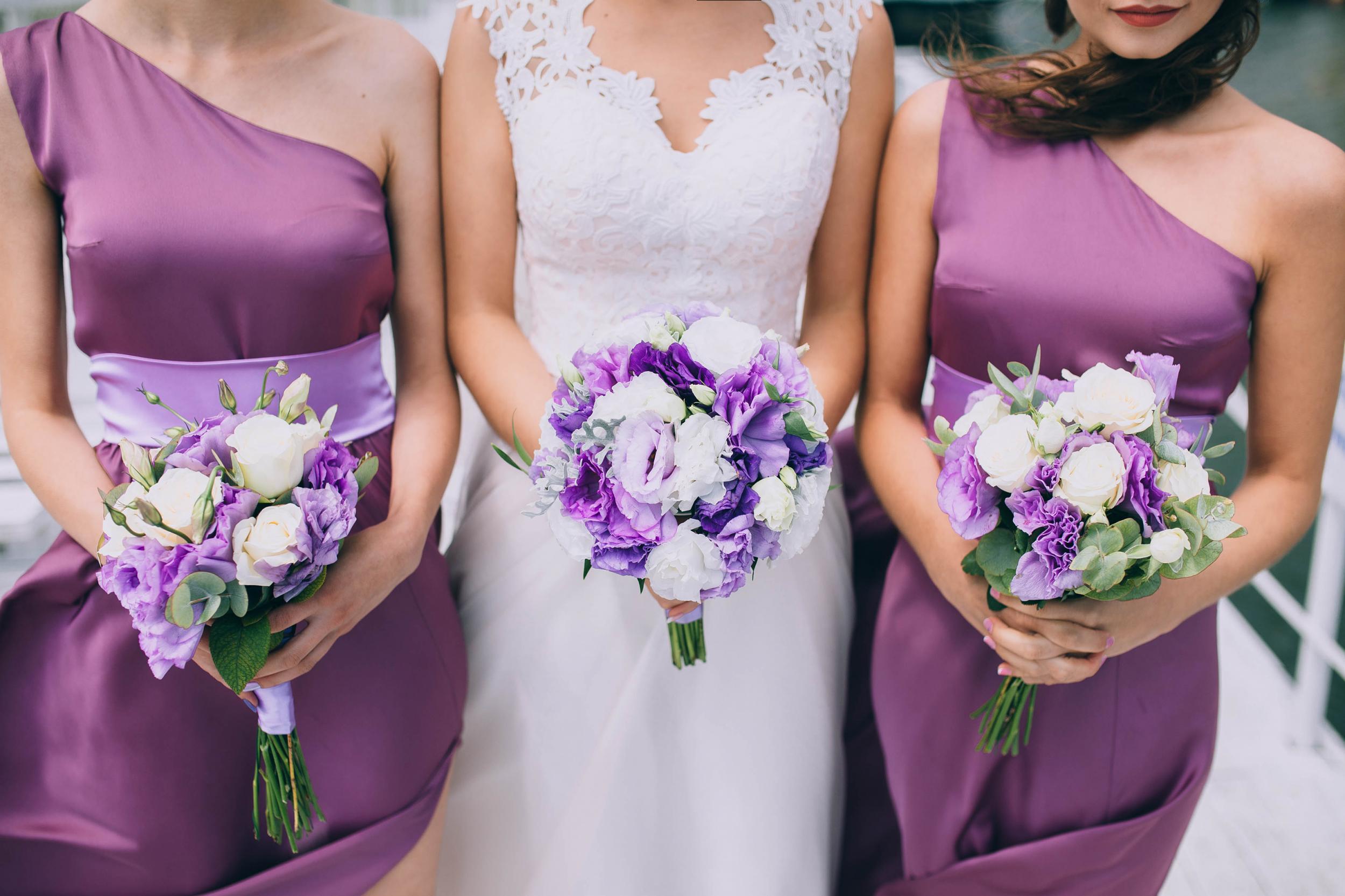 Foto de noiva e madrinhas