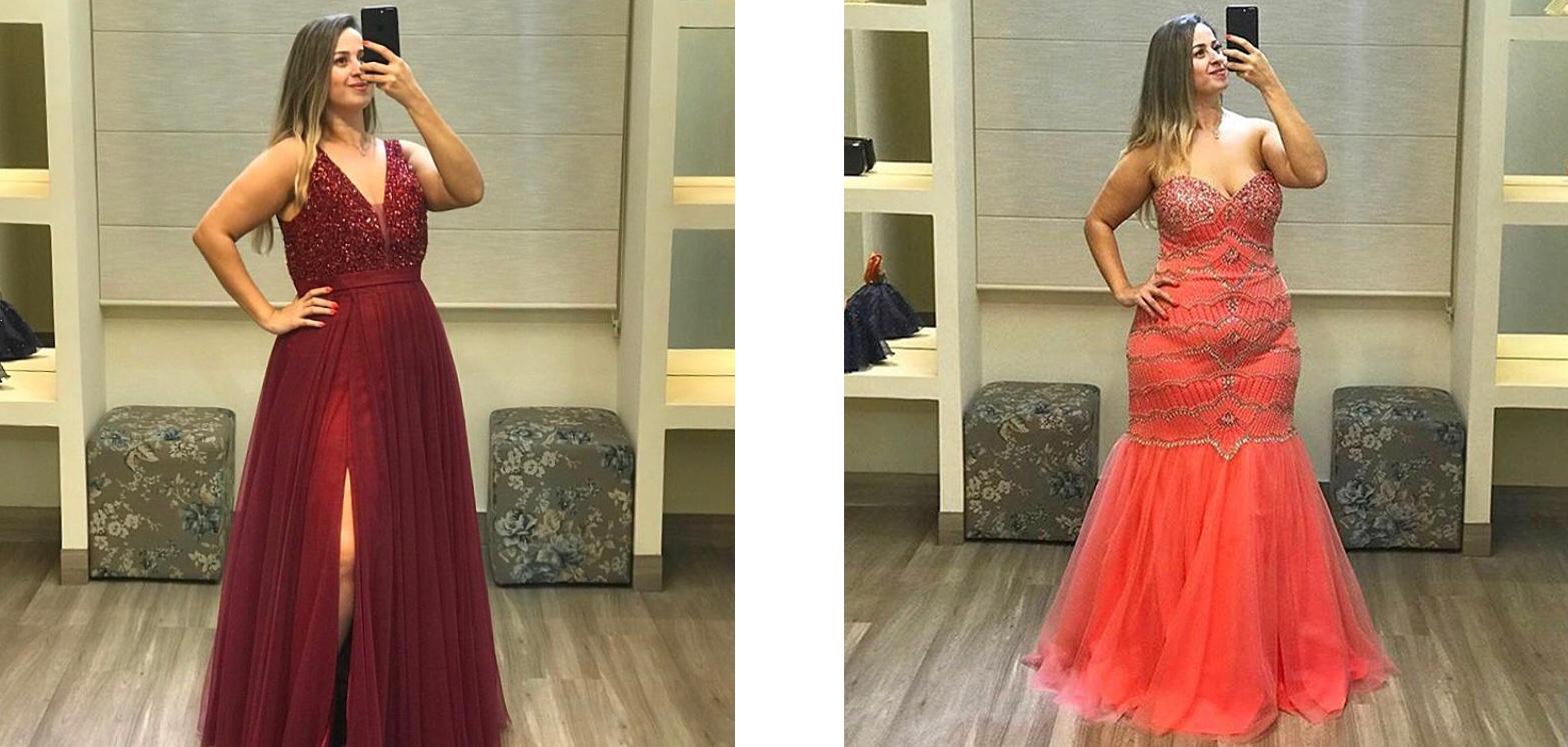 Foto de mulher com vestido